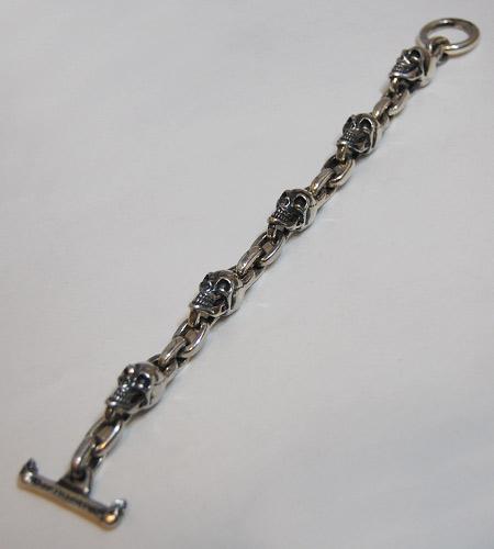 画像3: Skull & Chain Link Bracelet