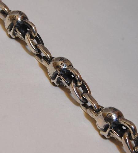 画像4: Skull & Chain Link Bracelet