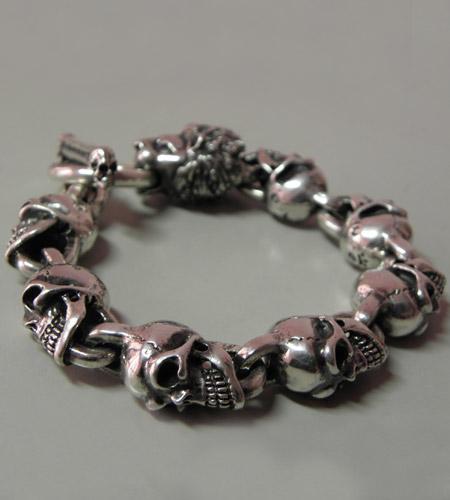 画像2: Lion With Skulls Links Bracelet