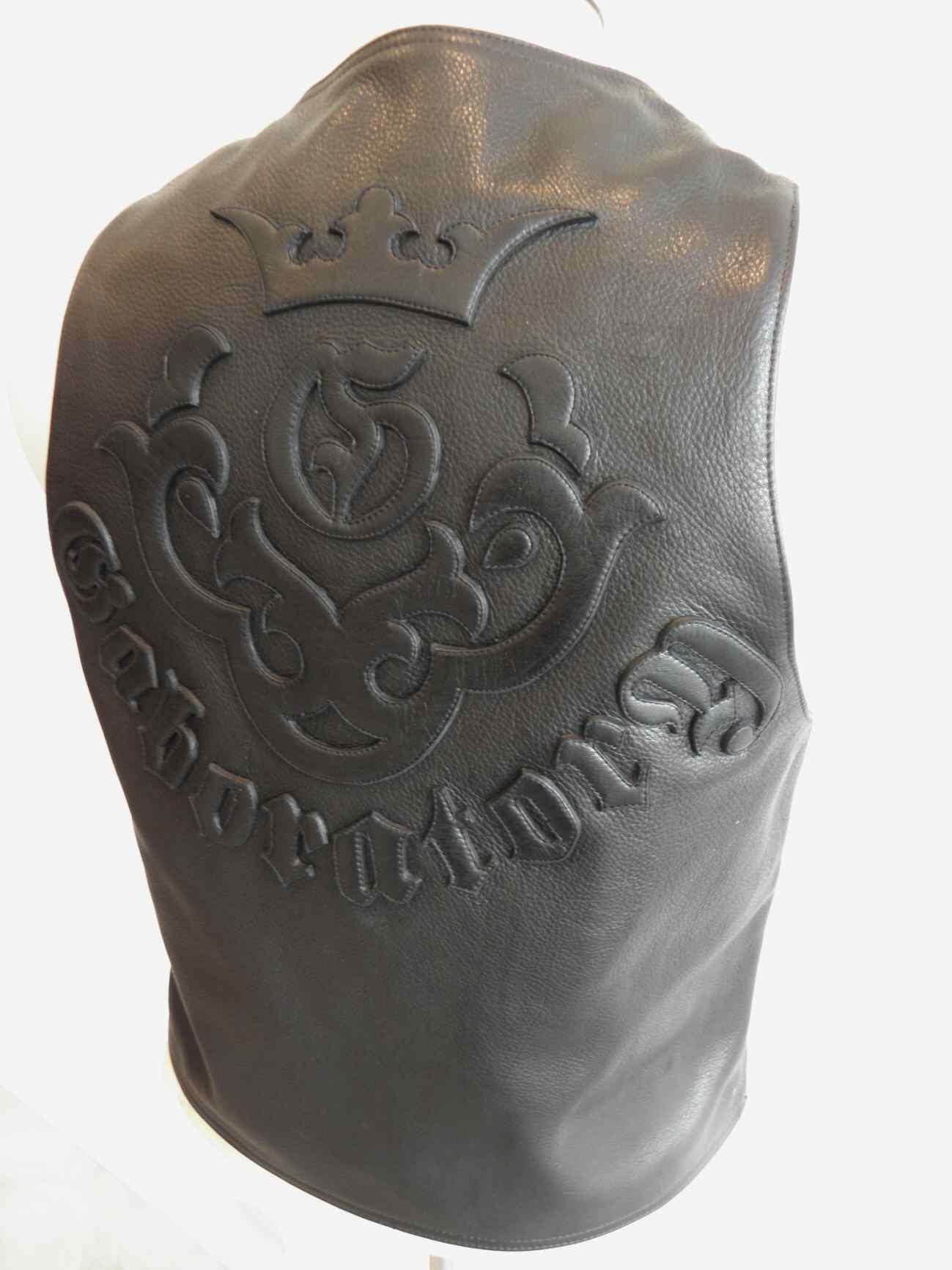 画像1: Gaboratory Tailored Leather Vest (Atelier mark art work)
