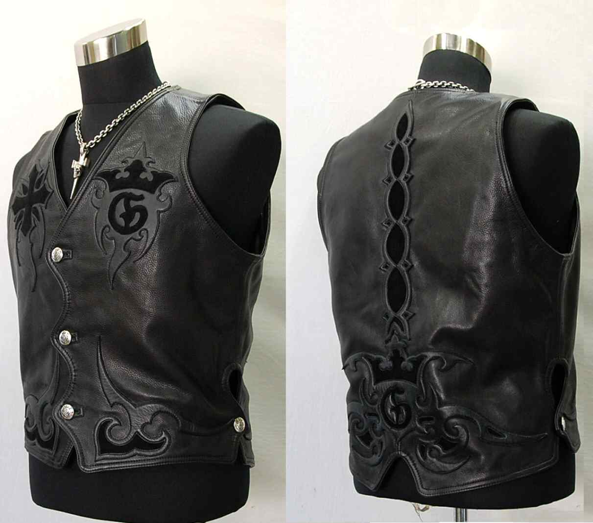 画像3: Gaboratory Tribal Leather Vest