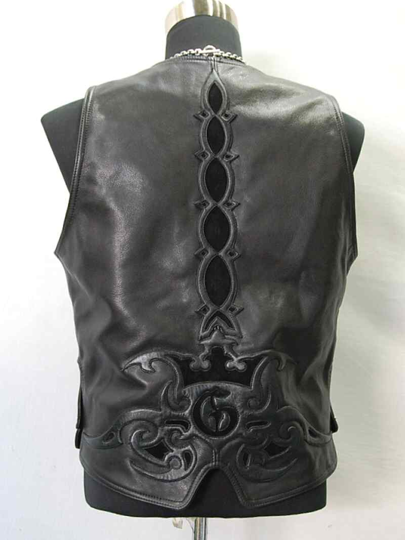 画像2: Gaboratory Tribal Leather Vest