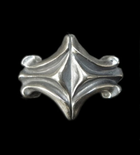 画像1: Sculpted Oval Diamond Shape Ring