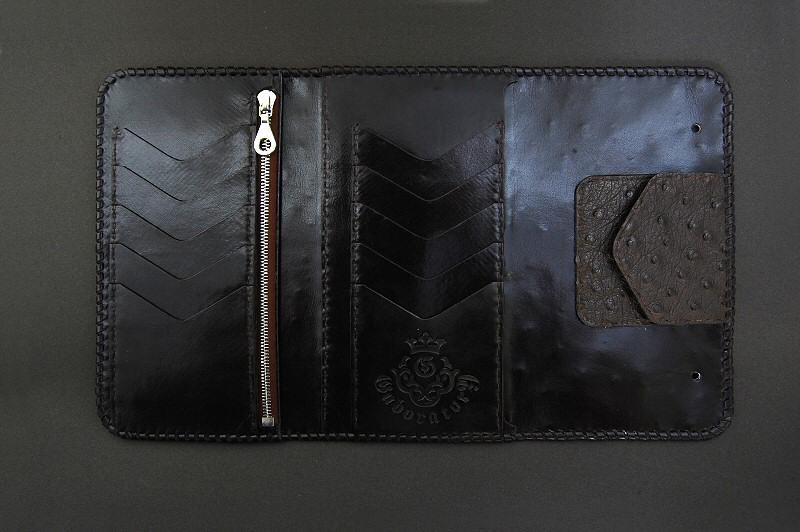 画像4: Stingray Cross Inlay Ostrich Long Wallet