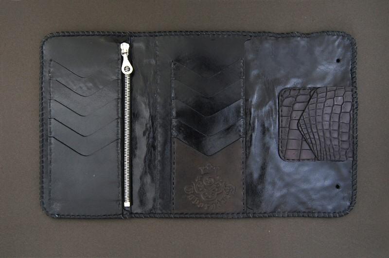 画像3: Crocodile Head&HornBack Long Wallet