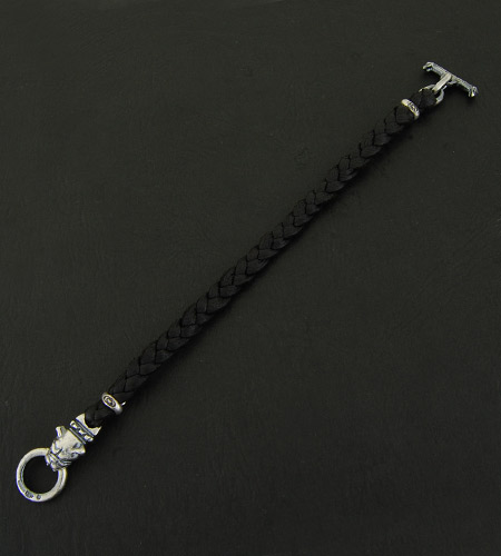 画像5: Quarter Old Bulldog braid leather bracelet