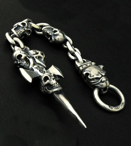 画像4: Triple Skull Dagger & Old Bulldog Wallet Hanger