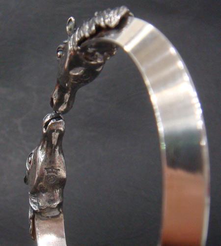 画像5: Horse Triangle Wire Bangle