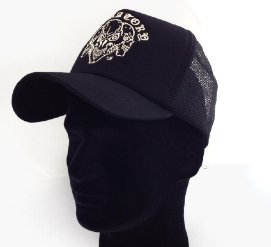 画像1: Triple Skull Mesh Cap (Snap-back)