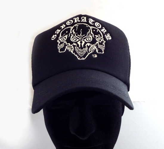 画像2: Triple Skull Mesh Cap (Snap-back)