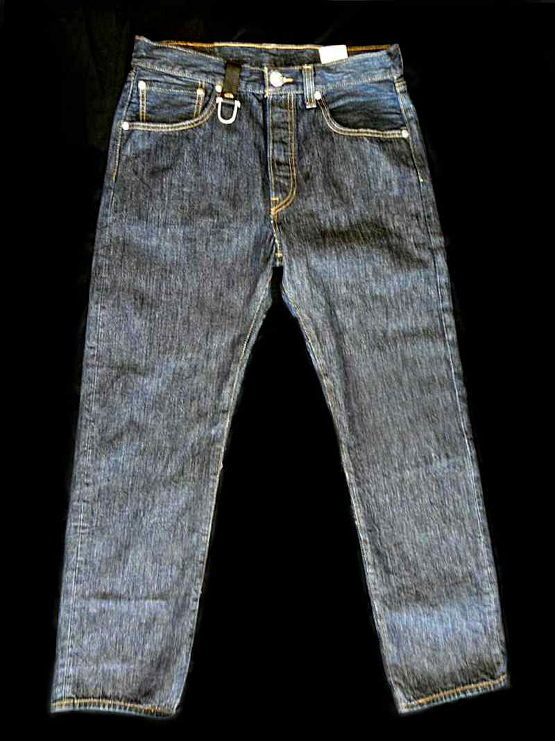 画像2: Gaboratory Reinforced Jeans with Stingray inlay Cow hide pocket