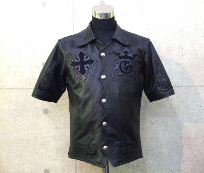 画像1: Gaboratory Tribal Leather Shirt (Short sleeve)