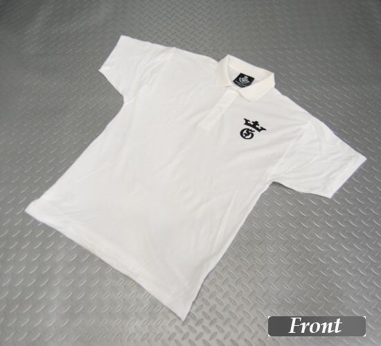 画像1: Gaboratory G&Crown Polo Shirt(White)