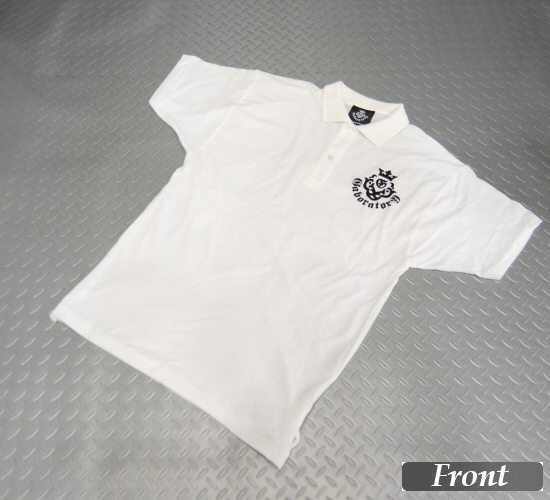 画像1: Gaboratory Atelier Mark Polo Shirt(White)