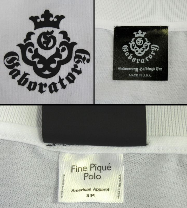 画像3: Gaboratory Atelier Mark Polo Shirt(White)