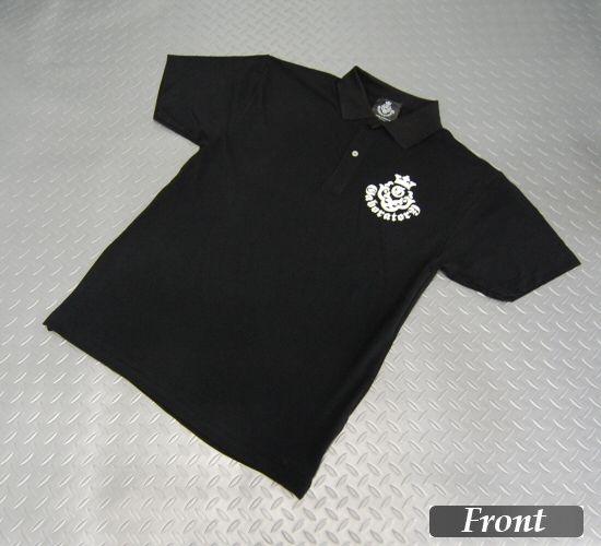 画像1: Gaboratory Atelier Mark Polo Shirt(Black)