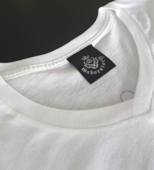 画像2: Atelier mark V-neck T-Shirt [White]