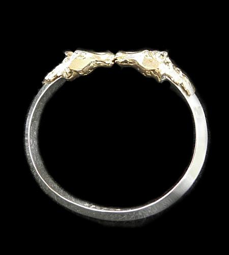 画像1: 18k Gold Half Horse Triangle Wire Bangle