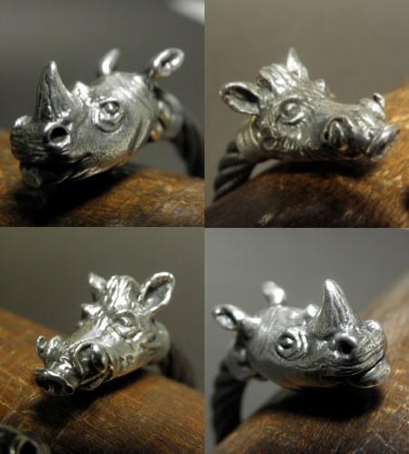 画像4: Rhinoceros & Boar Cable Wire Bangle