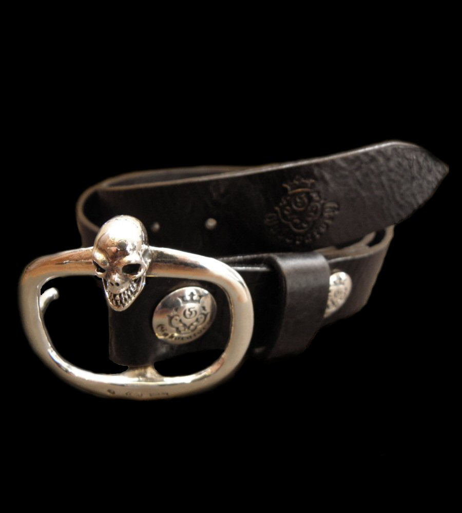 画像1: Skull On American Vintage Buckle