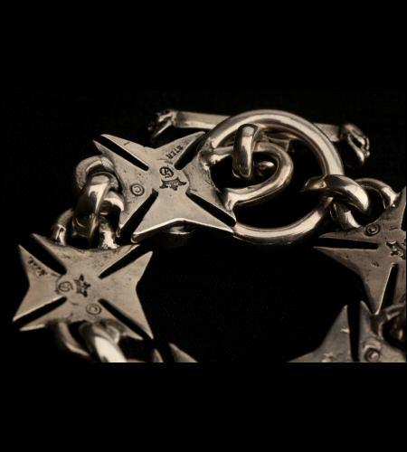 画像3: Skull On Maltese Cross Links Bracelet