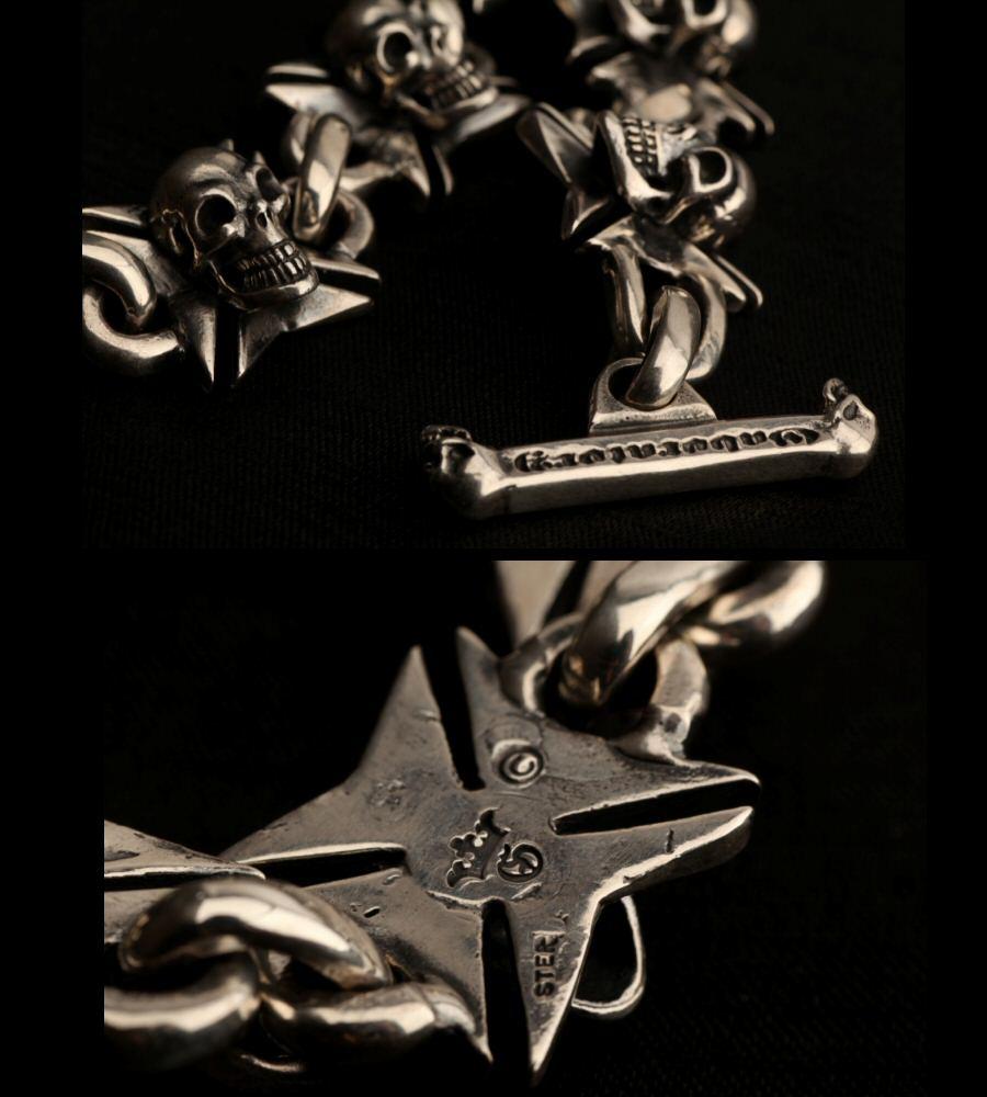 画像5: Skull On Maltese Cross Links Bracelet