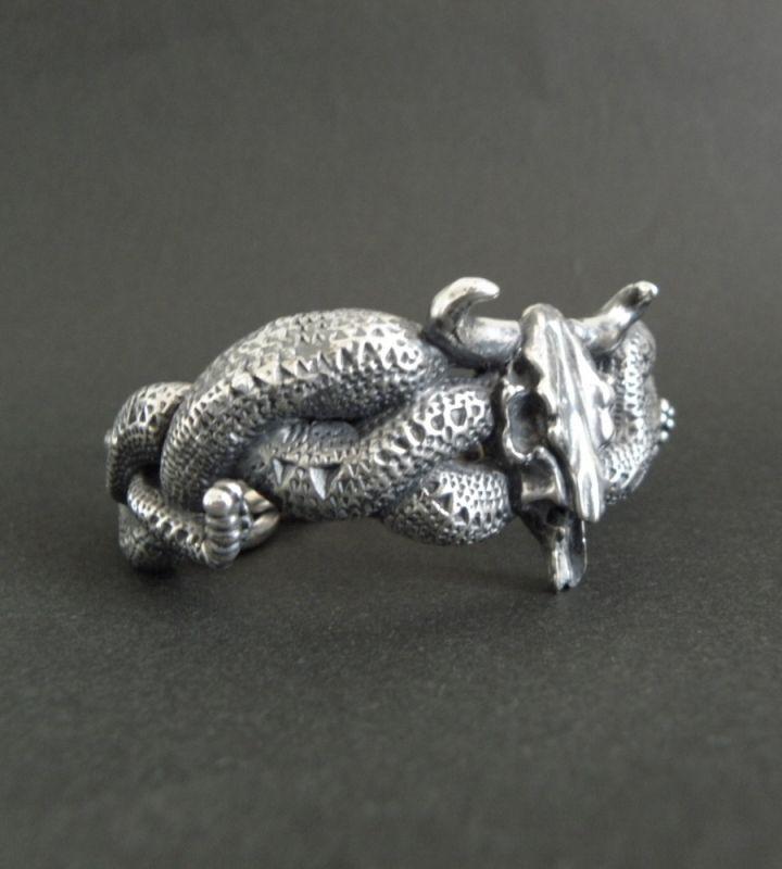画像3: Large Buffalo Skull & Large Snake Bracelet