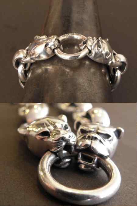 画像5: Panther & Bulldog With Smooth H.W.O & Anchor Links Bracelet