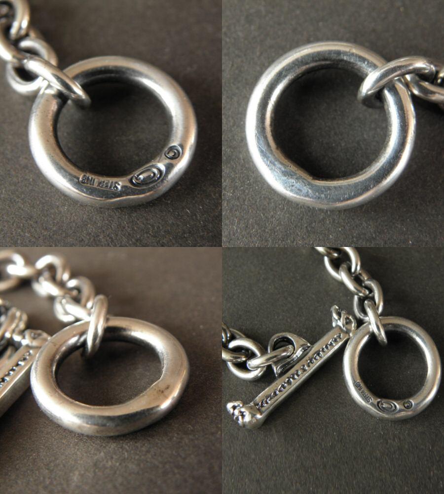 画像4: Quarter Skull On Half Chain Bracelet