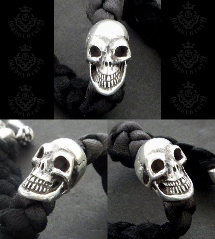 画像3: Bulldog & Skull on braid leather bracelet