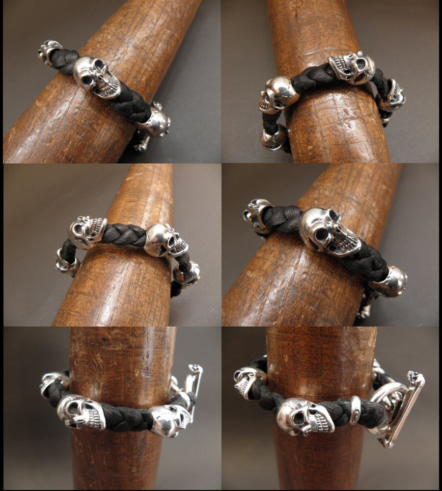 画像5: 5Skulls braid leather bracelet