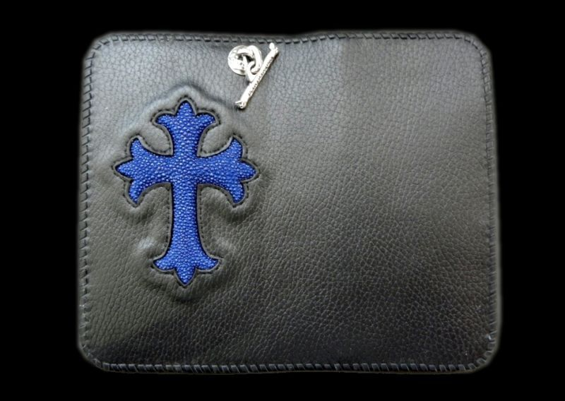 画像1: Stingray Cross Inlay Buffalo Check Book