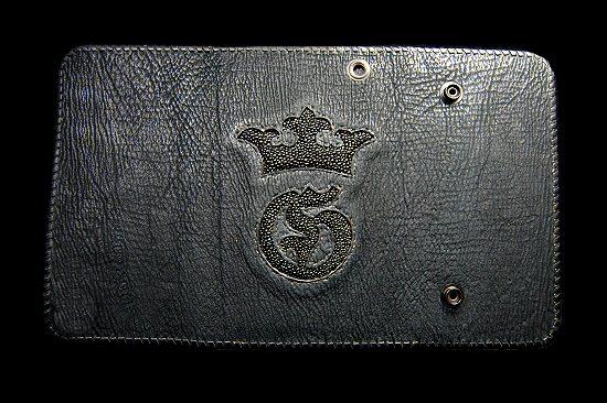 画像3: Stingray G&Crown Inlay Shark Long Wallet