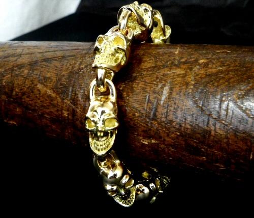 画像4: 18k 7 Skull Bracelet
