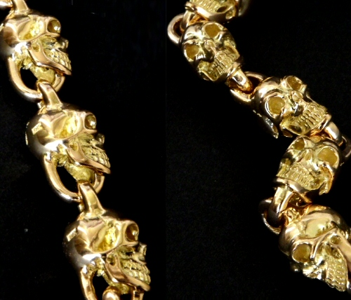 画像3: 18k 7 Skull Bracelet
