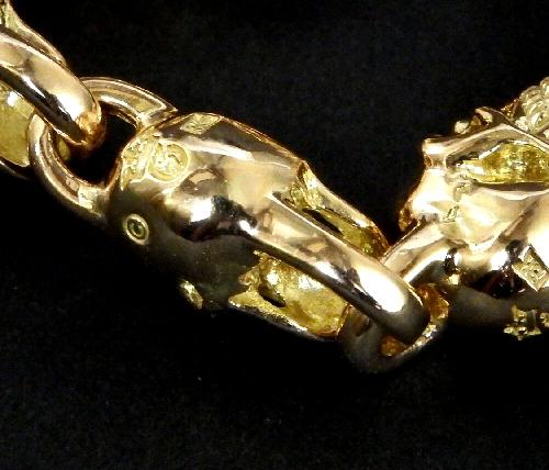 画像2: 18k 7 Skull Bracelet