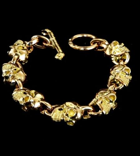 画像1: 18k 7 Skull Bracelet