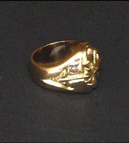 画像3: 18k Cross Oval Signet Ring