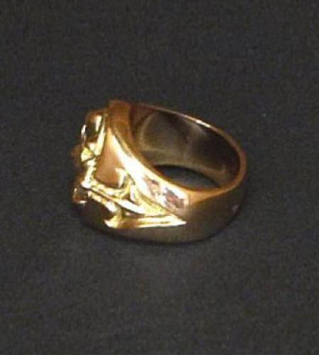 画像4: 18k Cross Oval Signet Ring