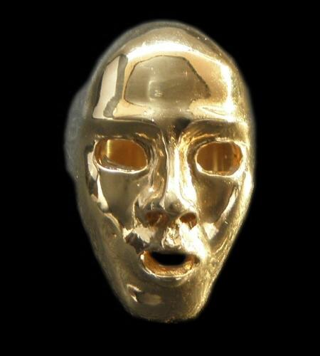画像1: Gold Face Ring