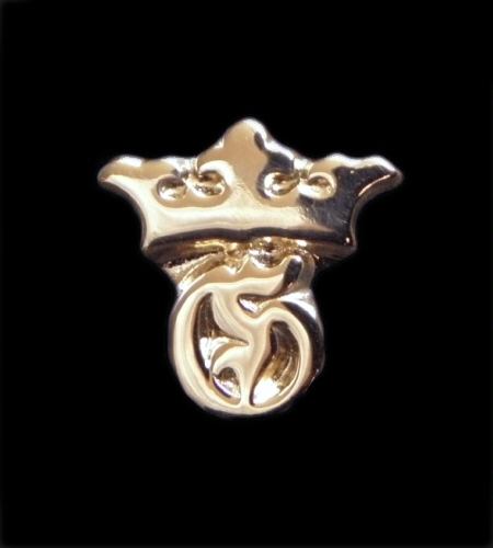 画像1: 18k Gold G&Crown Pierce