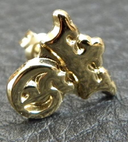 画像2: 18k Gold G&Crown Pierce