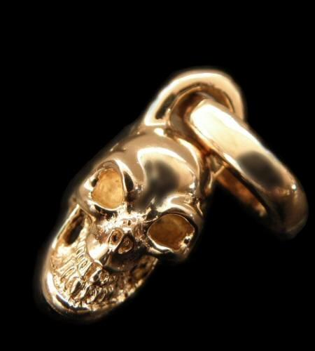 画像1: 10k Half Single Skull Pendant