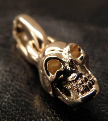 画像2: 10k Half Single Skull Pendant