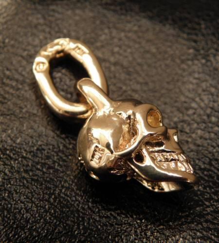 画像5: 10k Half Single Skull Pendant