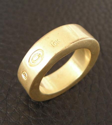 画像5: Gold Flat Bar Ring Bold