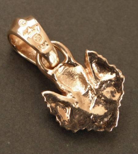 画像3: 10k Quarter Skull Wing Pendant