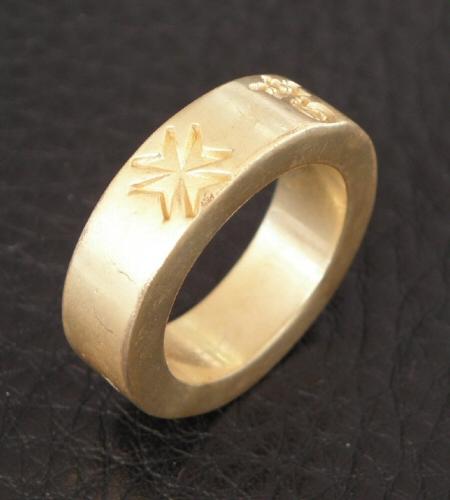 画像4: Gold Flat Bar Ring Bold