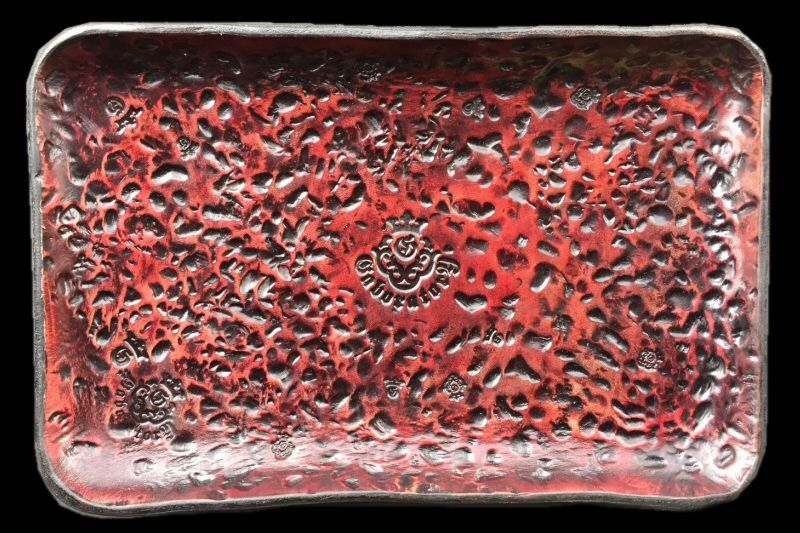 画像1: Gaboratory Textured Leather Gun Tray  [Red]