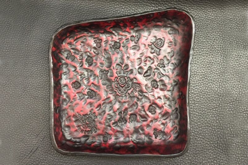 画像2: Gaboratory Textured Leather Gun Tray  [Burgundy]